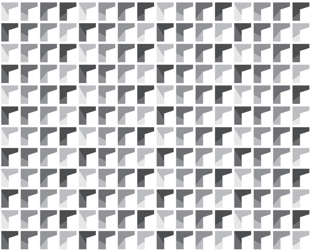 Brand pattern in grey scale