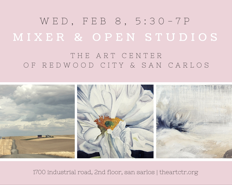 14 artist have generously offered to hold their studios open for an exclusive San Carlos Chamber Member showing.  Those interested in joining the San Carlos Chamber are welcome to attend by checking in with Chamber representatives upon arrival.    We look forward to seeing you there!  Free parking is available on Bing and in the front of the building after 6pm.