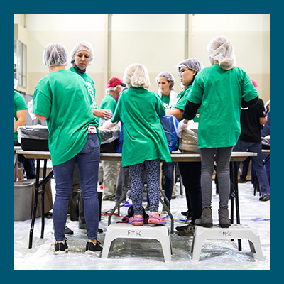 Feed My Starving Children - Pack meals for at-risk children around the world. Ages 5 and up are welcome. A great way to serve together with your family, or to invite your friends and neighbors into what's important to you.fmsc.org