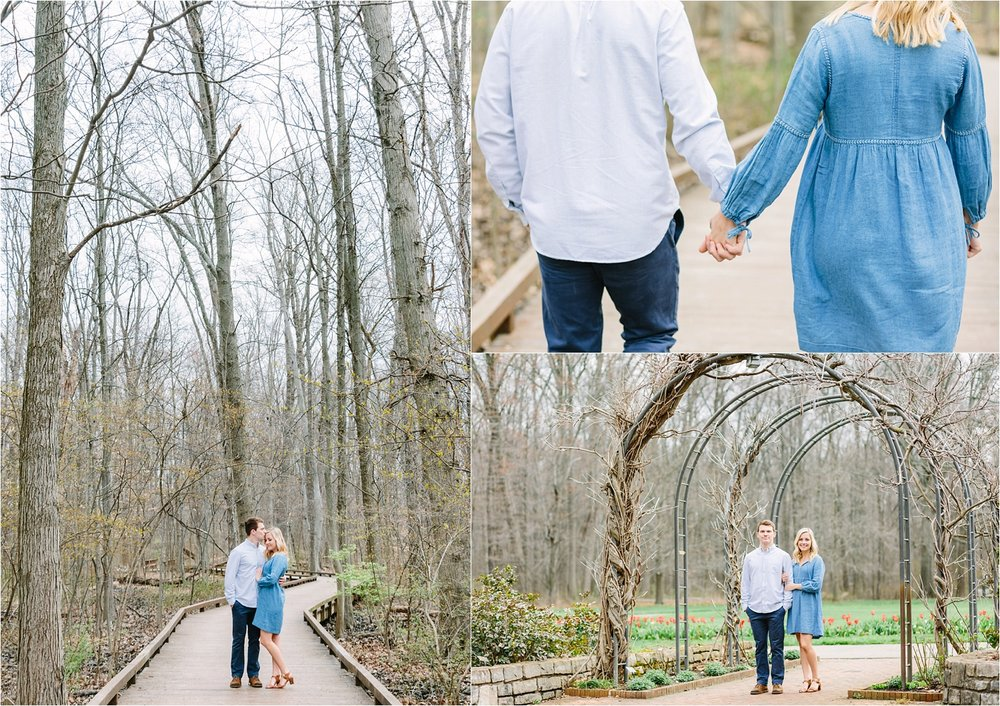 Inniswood Metro Gardens has an awesome boardwalk path surrounded by woods that makes for amazing engagement and wedding photos. I've heard it's incredible in fall with all of the changing leaves too!