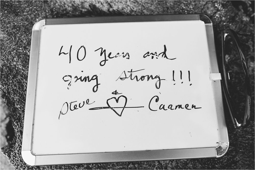 Congratulations, Steve & Carmen on 40 years of marriage! :)