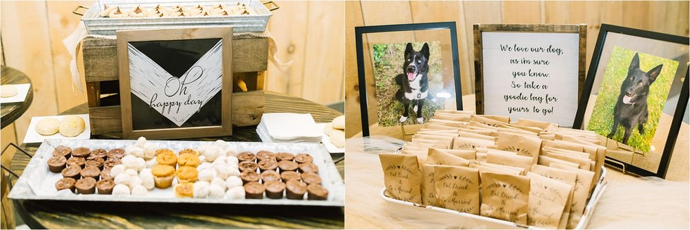 They chose to offer dog treat bags for guests with pups. One of the most Pinterest-worthy things I've seen all wedding season!