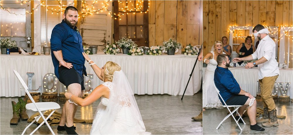I think everyone would agree this was an event highlight! Colton thought he'd be removing the garter from Jessica. She had mischievous plans.