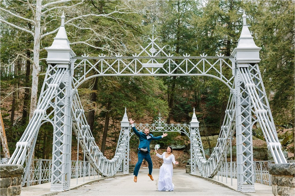 Isn't the  Mill Creek Park Suspension Bridge  (AKA the Cinderella Bridge) one of the most magical places in Youngstown, Ohio?!
