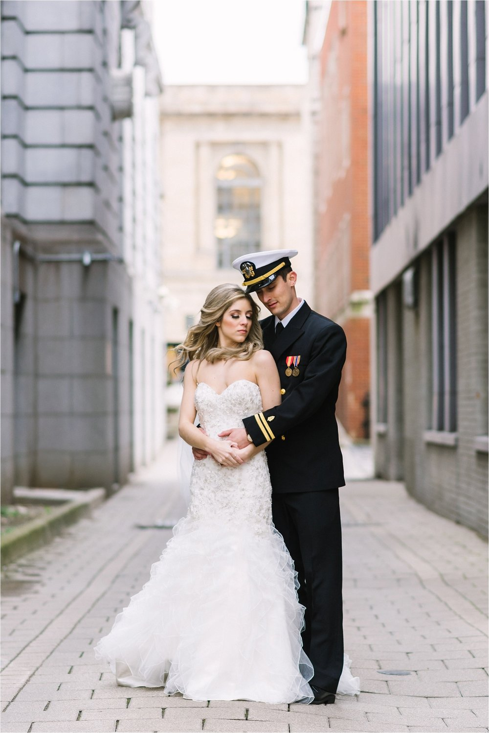 Downtown Youngstown wedding photos are so romantic.