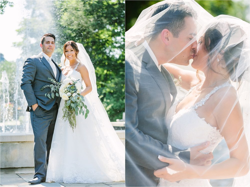 Fellows Riverside Gardens  + pretty sunlight and a big romantic veil. This is what I live for haha