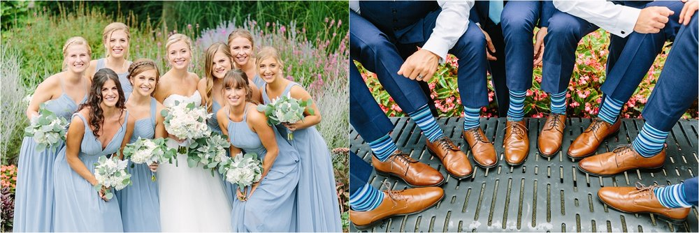 Slate blue, navy, and white was a big color palette in 2018. It was actually what Donny & I chose for our wedding too!