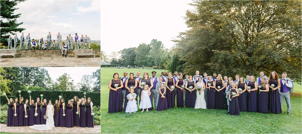 The largest bridal party I've ever had (and also the most fun). Thanks for being such a fun, great group of people all around!!