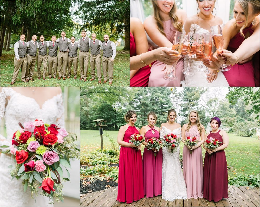 Loooved their color palette. And this entire bridal party was awesome!