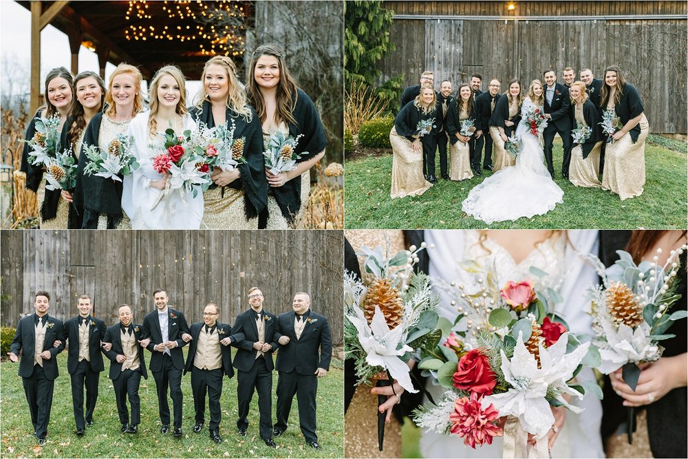 Armstrong Farms  was kind enough to let us use their empty summer venue to take photos at before heading over to the Fieldstone barn for their reception. The twinkle lights were a nice touch!