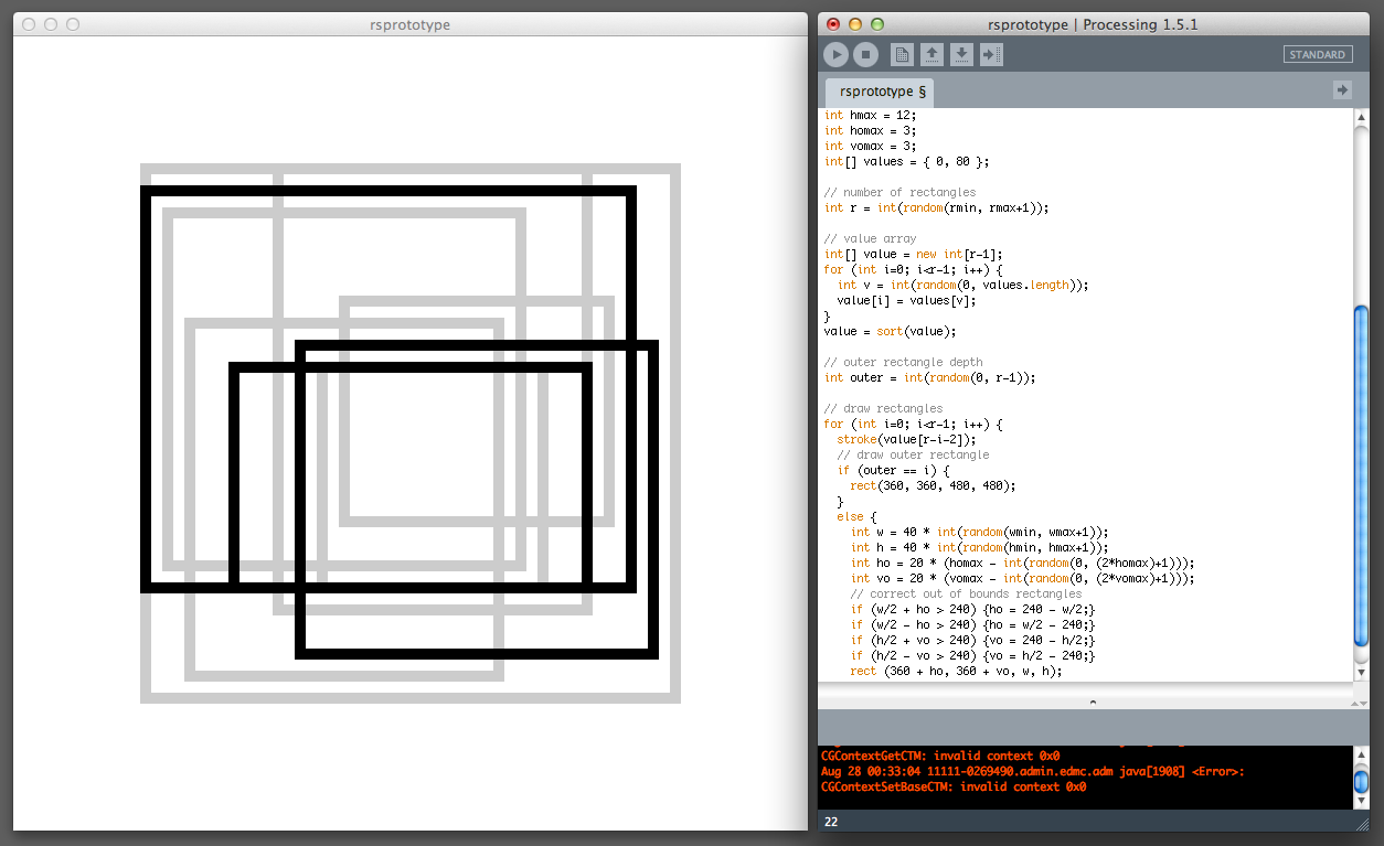 Learning  Processing  for prototyping future rectangle studies.