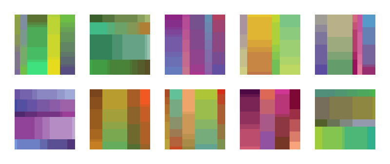 More Color Palette Drafts Here are 10 more color palette drafts using the same parameters as the last two sets. That makes 30 drafts to this point. I'm going to try editing these down to a set of 20 final candidates for color palettes 41-60. We'll see if there are enough good drafts to make this work. Feedback appreciated as always.