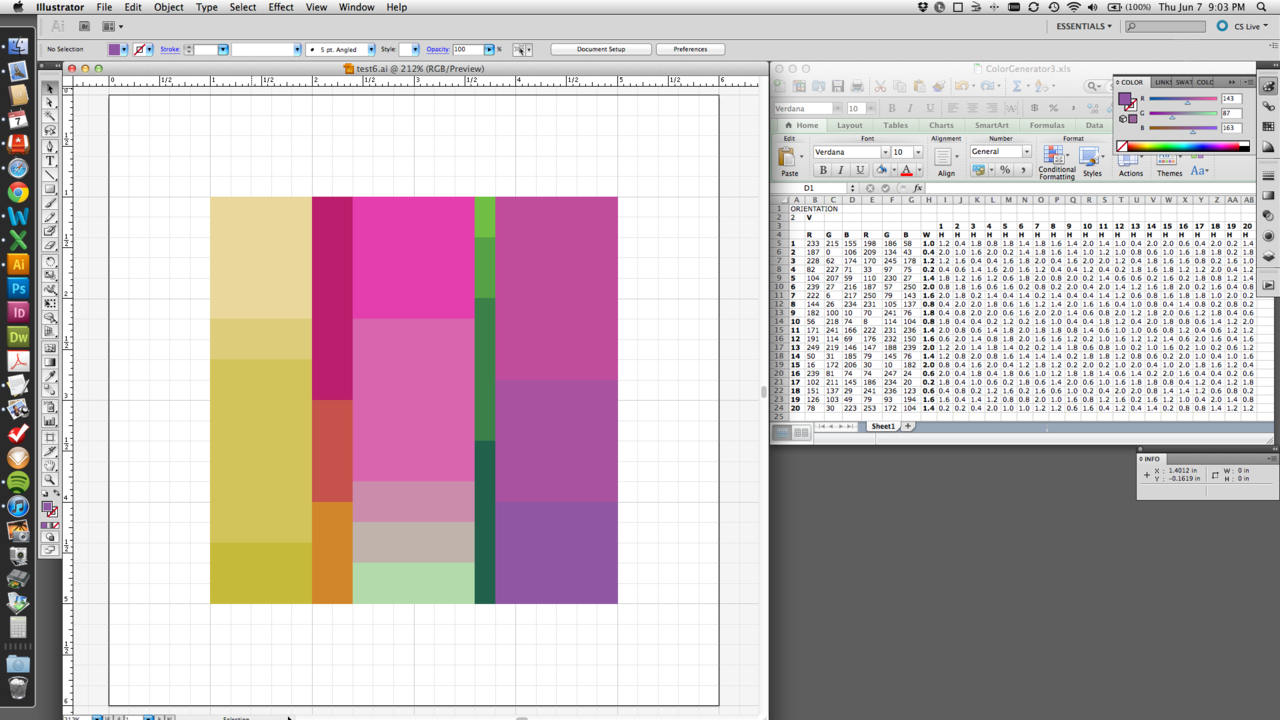 Working out some new ideas for my next set of color palettes.