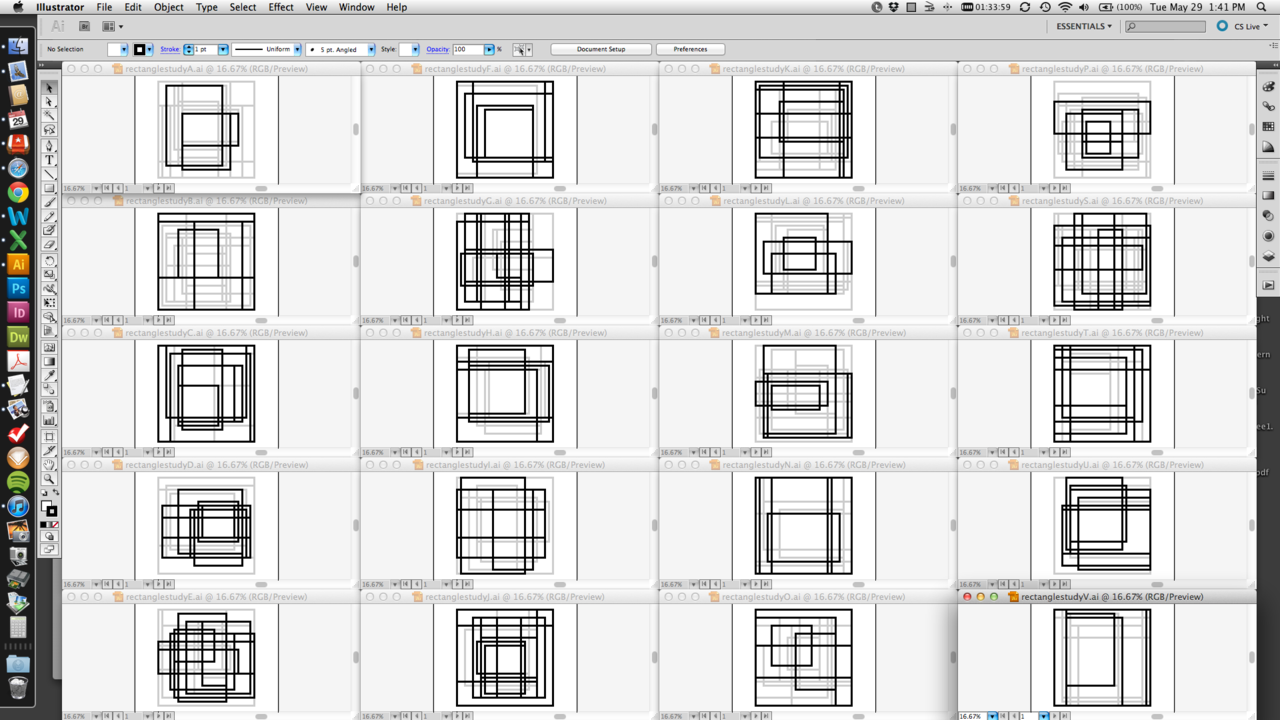 Curating rectangle studies 41-50…