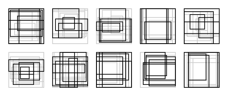 Rectangle Studies 41-50 - Next Candidates   Here are ten more candidates for my next set of rectangle studies.  I think between these and the last set of ten, I should be able come up with 10 finals.  Let me know your favorites!