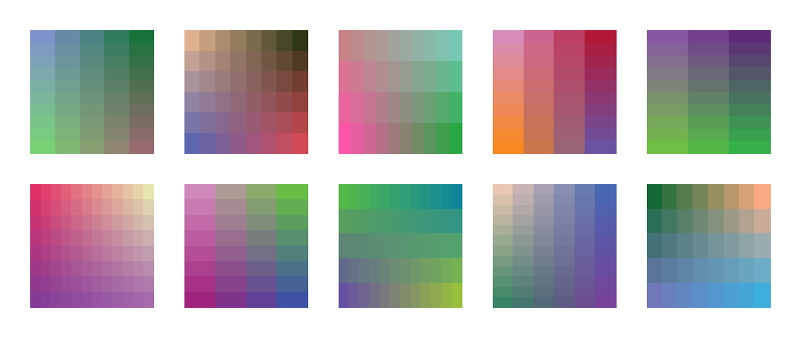Color Palettes 31-40 - Final Candidates   And here are the final candidates for color palettes 31-40!  I'll be collecting these and color palettes 21-30 to put up on my portfolio site.  Feedback appreciated as always.