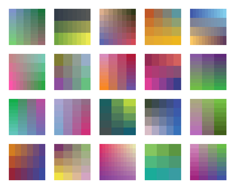 COLOR PALETTES 31-40 - MORE DRAFTS     I created 10 more color palettes using the same parameters as before, and placed them below the previous 10. I plan to edit this group down to 10 finals. Let me know which ones work and which ones don't. Thanks!