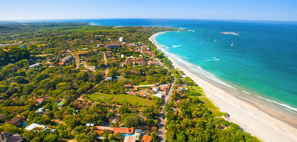 Coast and beach of Tamarindo in Costa Rica Source