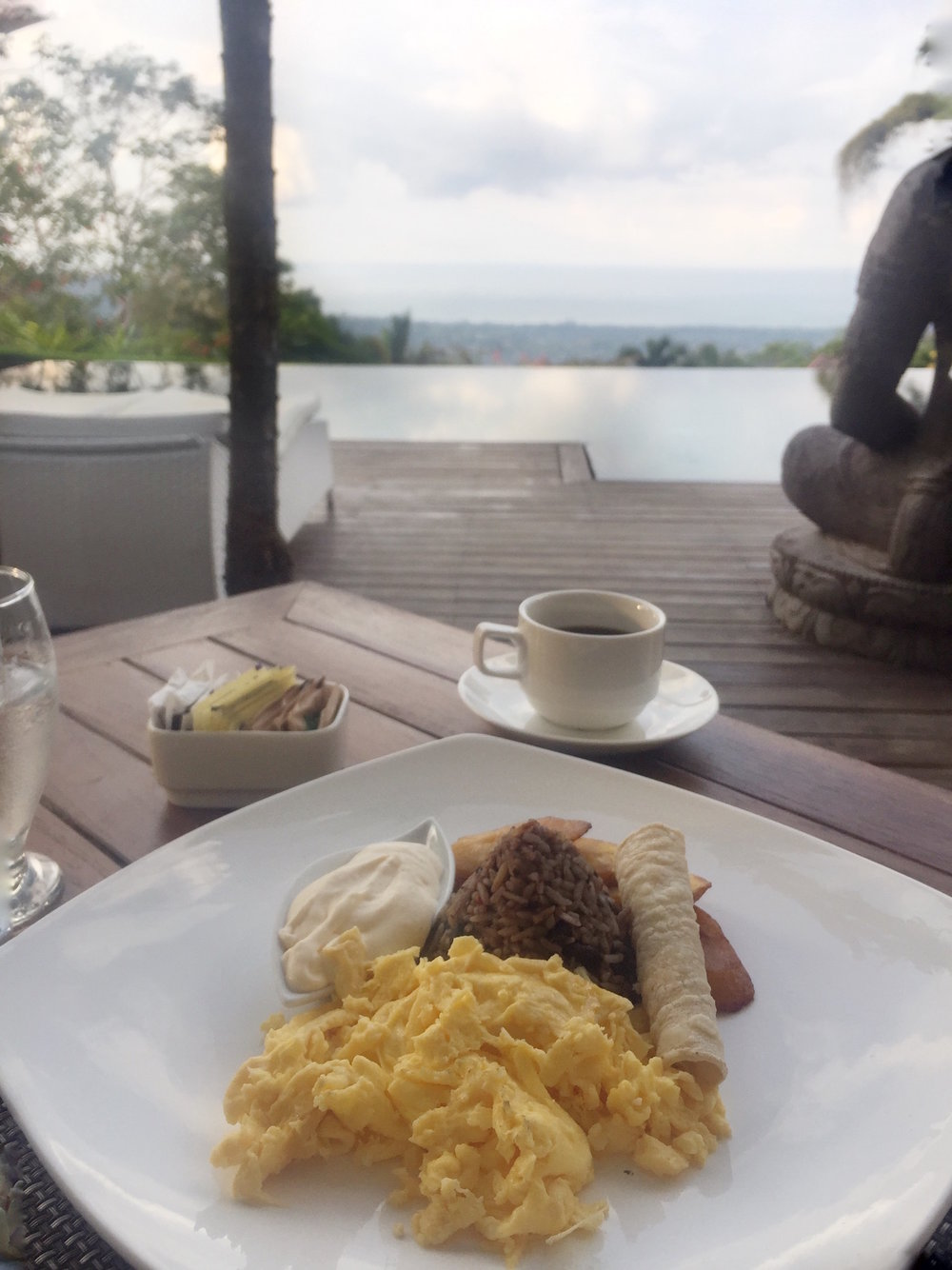 One of the Breakfast Options at Oxygen Jungle Villas