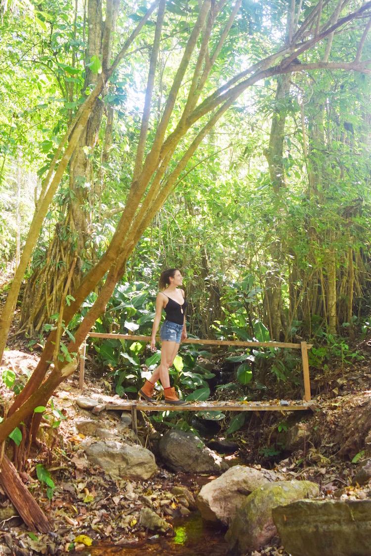 walking on a trail at Rafiki Safari Lodge Costa Rica