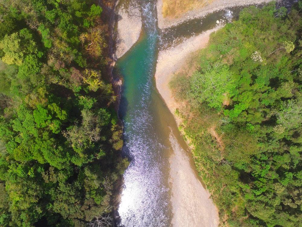 the river near Rafiki Safari Lodge Costa Rica
