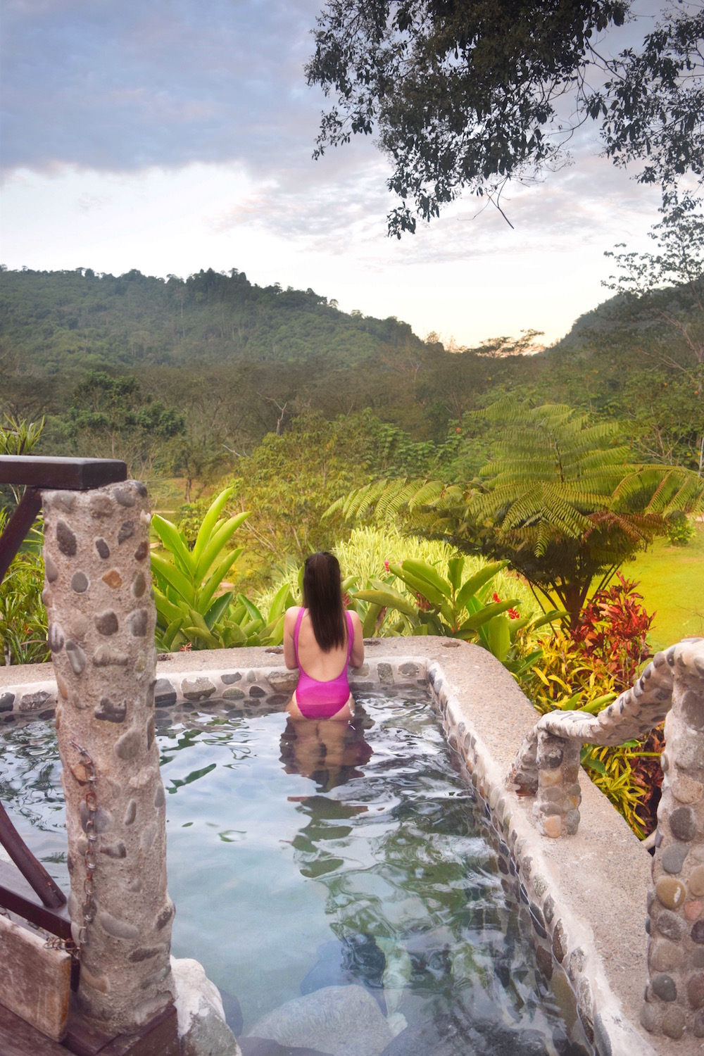 Enjoying the Jacuzzi at Rafiki Safari Lodge Costa Rica