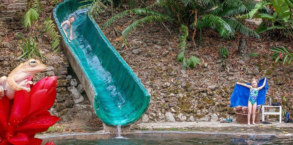 Slide at Rafiki Safari Lodge Costa Rica