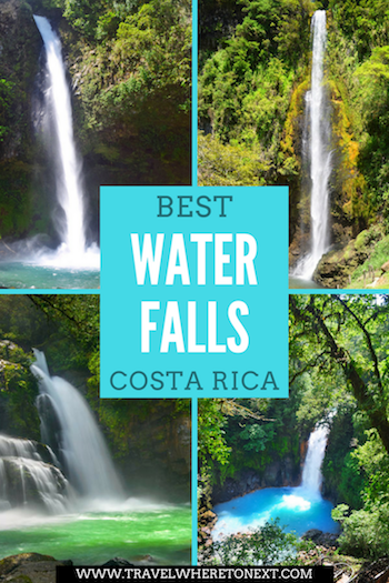 How to visit some of the best waterfalls in Costa Rica. La Fortuna Waterfall, Montezuma Waterfall, Nauyaca Waterfall, Viento Fresco Waterfalls and Rio Celeste Waterfall.  Tessa Juliette | Travel Where to Next http://travelwheretonext.com