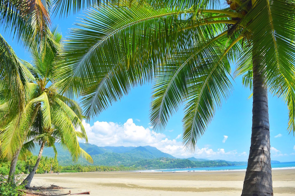 Beautiful beach in Uvita Costa Rica
