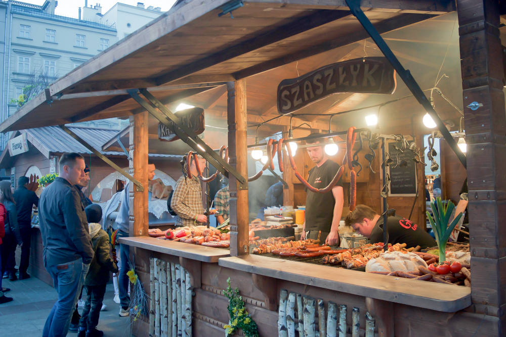 Don't miss Krakow Poland's amazing street food.  Tessa Juliette www.travelwheretonext.com