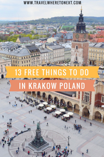 There are tons of free things to do in Krakow Poland. Krakow is already a cheap city but if you are a budget traveler you will love this top city in Europe! Tessa Juliette www.travelwheretonext.com
