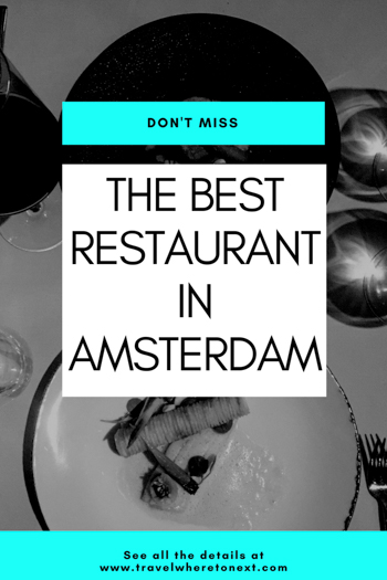 There are many Michelin starred restaurants in Amsterdam but Senses is one that you shouldn't miss when visiting Amsterdam. Read on to find out what I ate at Senses and how expensive Senses restaurant is.  Tessa Juliette http://travelwheretonext.com