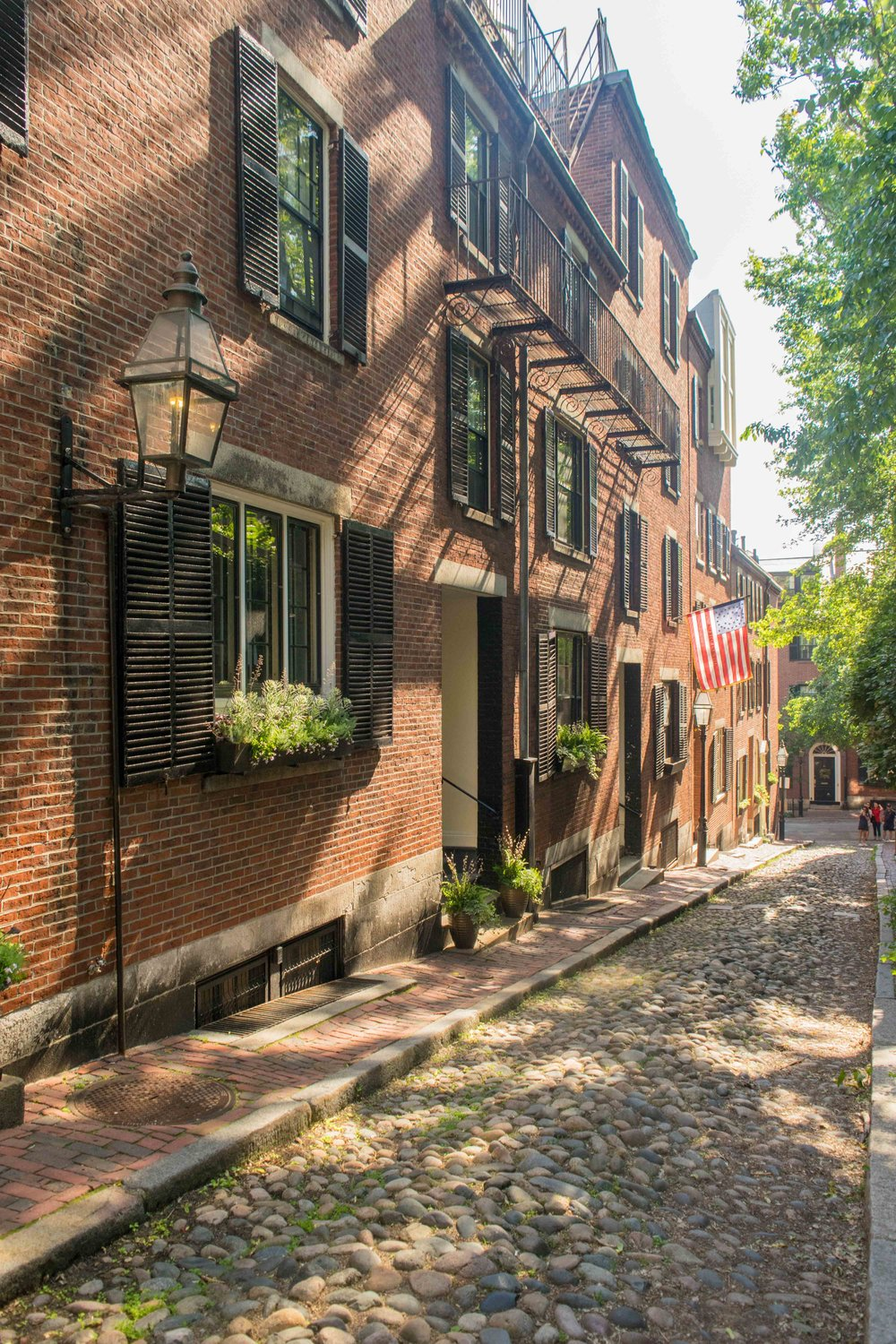Acorn street (the most photographed street in America) is right around the corner from the XV Beacon
