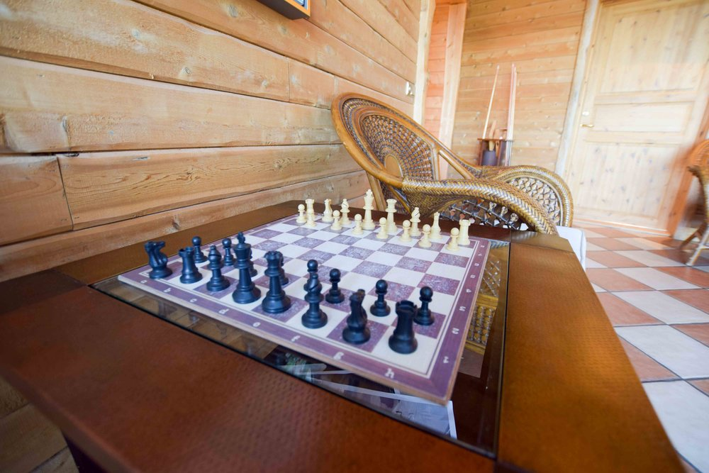 Chess at Hotel Ranga in Iceland