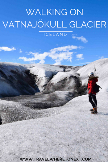 Traveling to Iceland soon? Don't miss one of the best excursions you can book while there: Walking on a glacier while in Iceland.