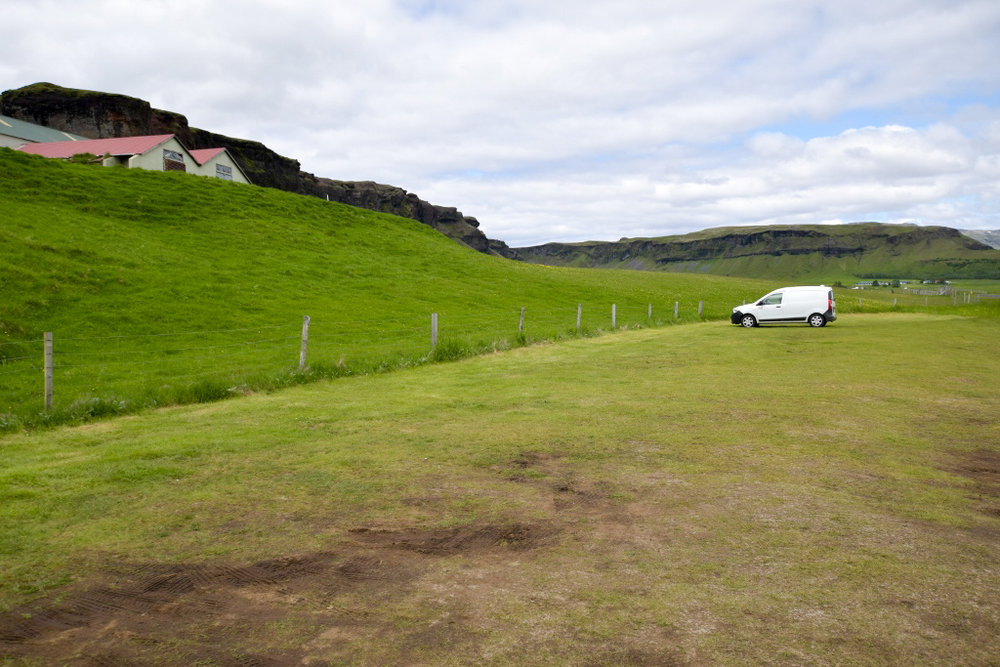 Various camp sights in Iceland.