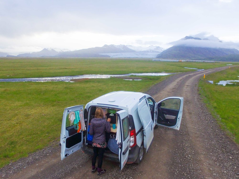 Camper vans in Iceland are a cost effective way to see the country.