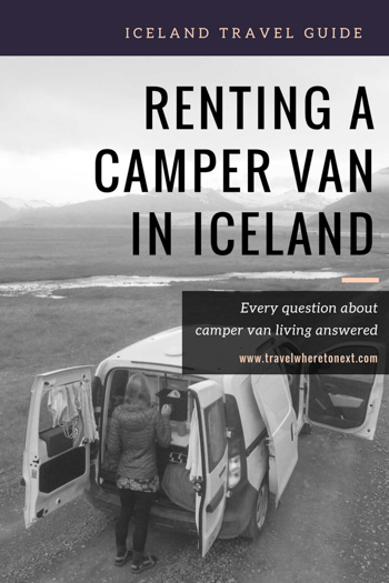 Everything you need to know to plan a perfect trip to Iceland including why you have to rent a camper van while in Iceland.