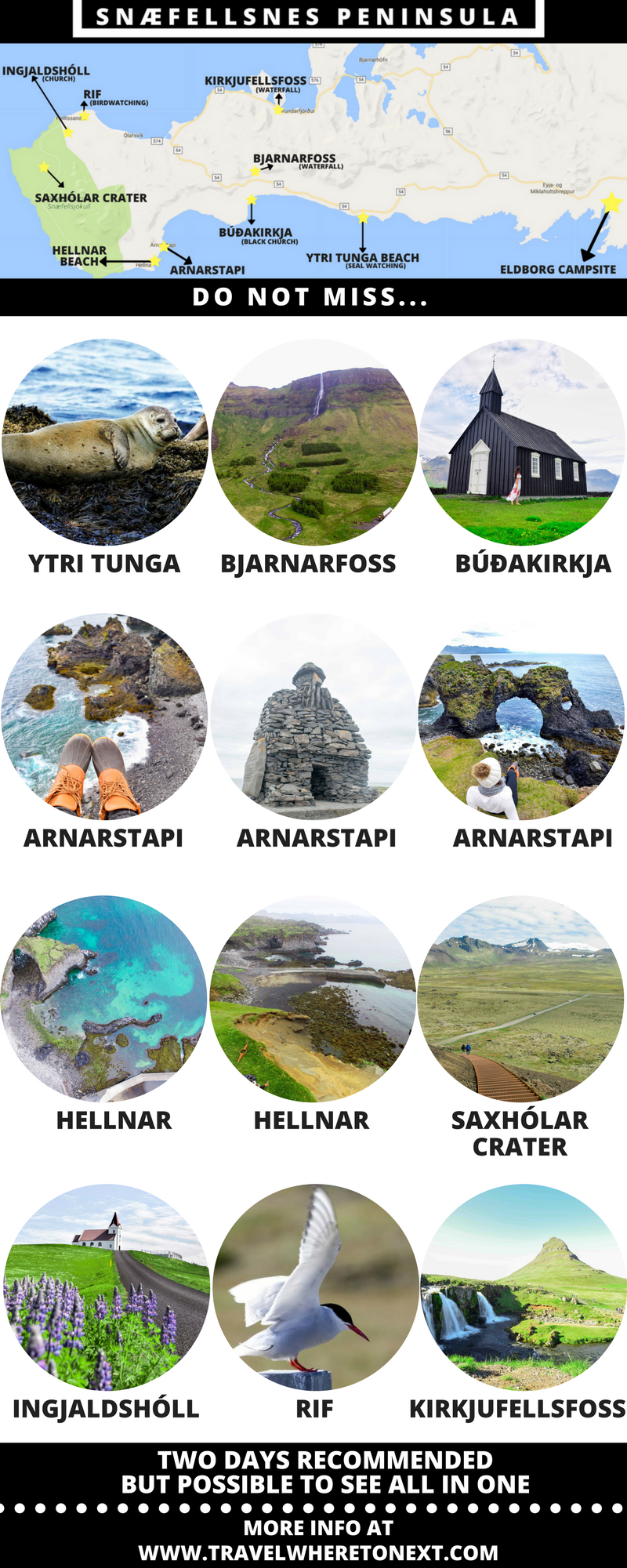 Snæfellsnes Peninsula is one of the best routes to drive in Iceland and for good reason. The peninsula is full of some of the best things to see in Iceland all located conveniently near each other.