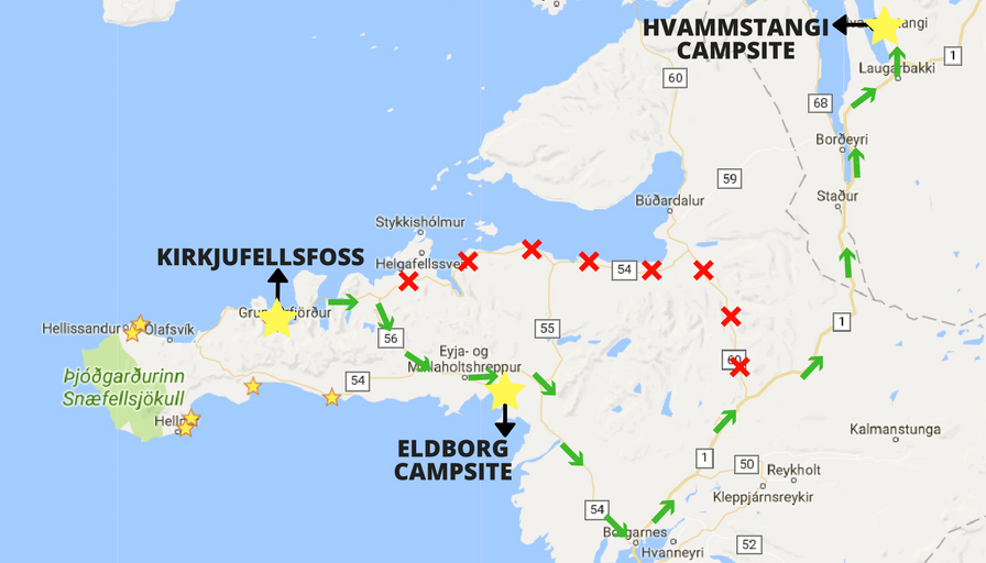 A map to help navigate Iceland
