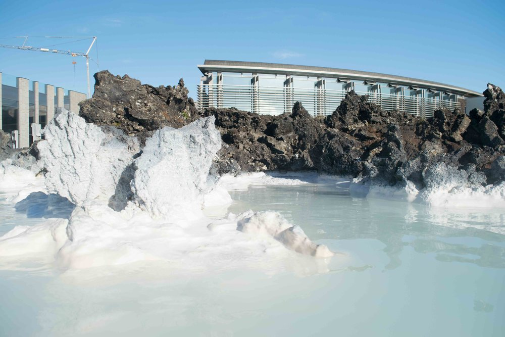 You can't miss the blue lagoon in Iceland