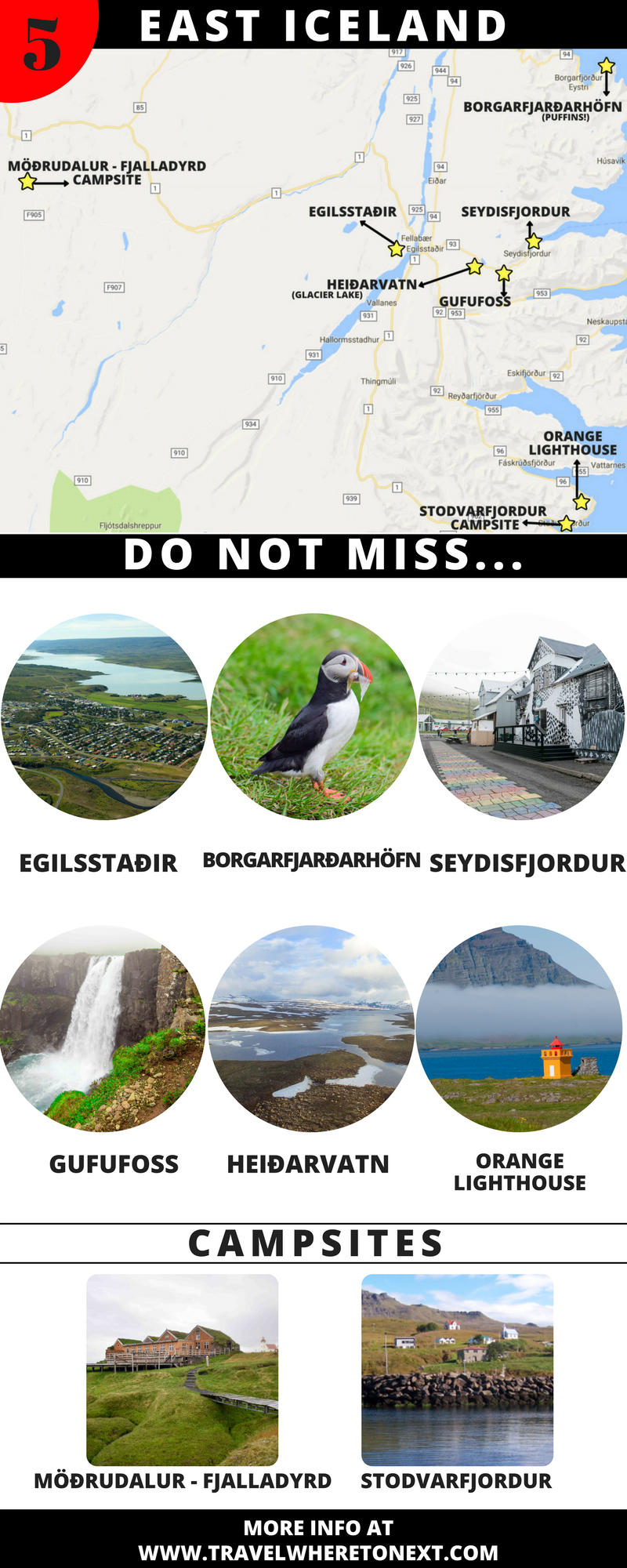 A map to help you plan a trip to Iceland.