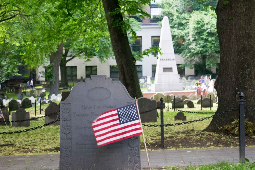 Established in 1660, some of America's most notable citizens rest here -