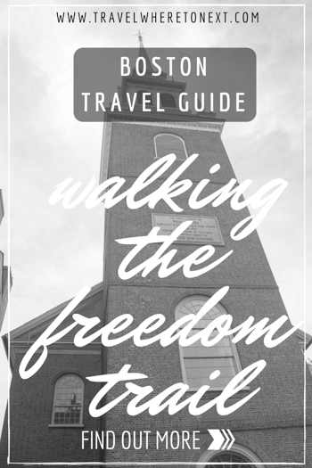perfect guide for walking the Boston freedom trail - a must do activity when visiting Boston