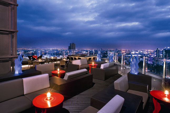 One of the best rooftop bars in Bangkok is Blue Sky in the Centara Grand Lad Prao