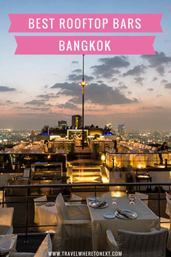 The very best rooftop bars in Bangkok Thailand. Don't miss these when you are visiting!