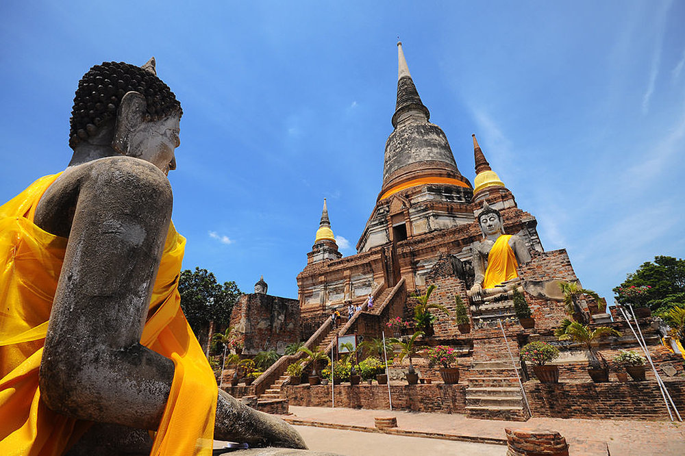 One of the best day trips from Bangkok is the ancient city of Ayutthaya