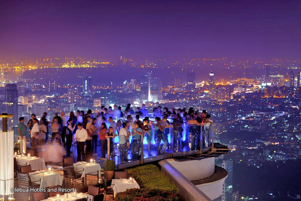 Sky bar is one of the most popular rooftop bars in Bangkok.