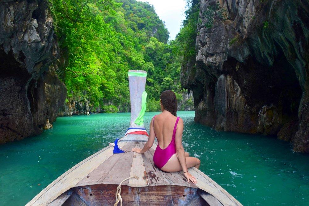Heading into hong island lagoon - Thailand