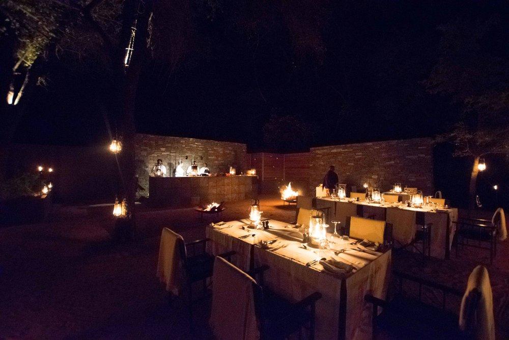 Dinner at Lion Sands Ivory Lodge